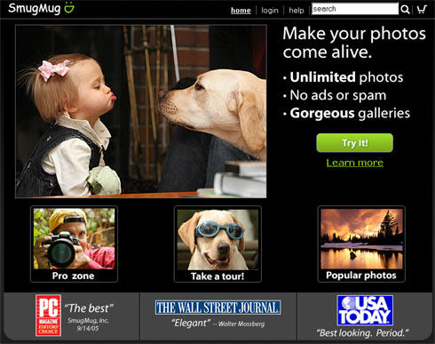 SmugMug geoblogging site