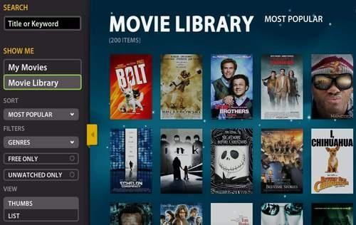 Choosing movies on Boxee