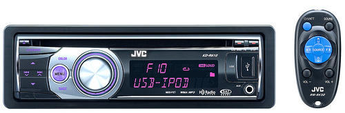JVC car stereos with iPod connectivity