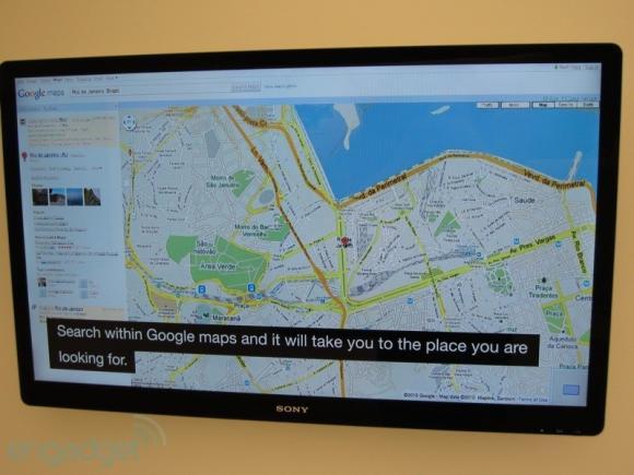 Google TV and Google Maps