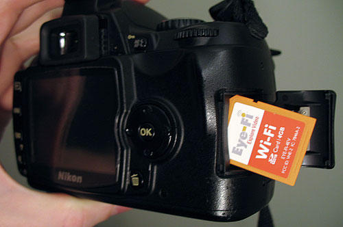 Eye-Fi wireless camera SD card