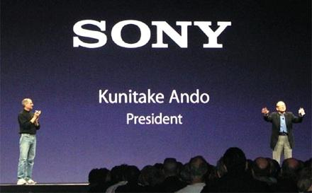 Aplpe and Sony