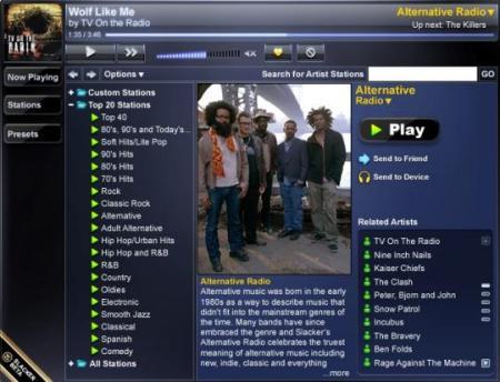 Slacker online music store