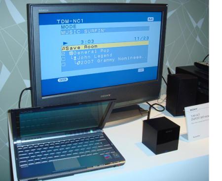 Sony TDM-NC1 music streamer for Bravia home theatre systems