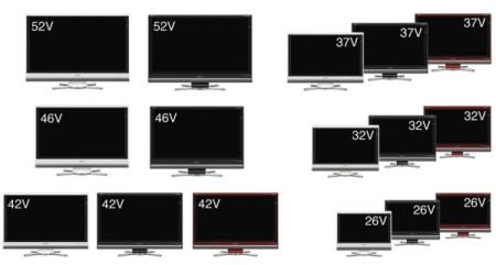 Lots of Sharp Aquos LCD Tvs with built-in Blue Ray players!