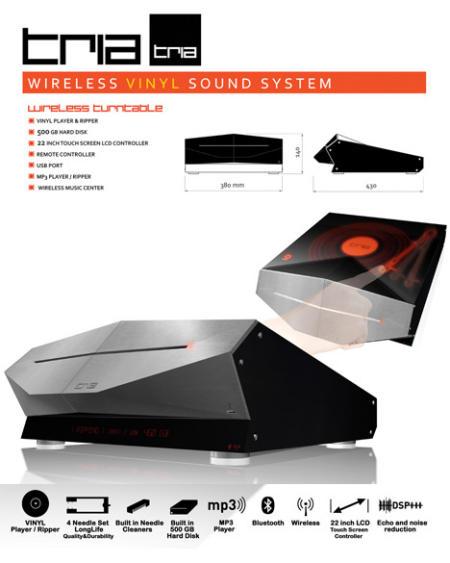 TRIA wireless vinyl sound system