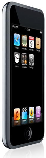 Apple iPod Touch showing user interface