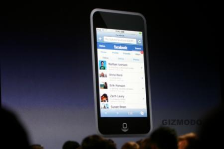 Apple iPod Touch with FaceBook Application