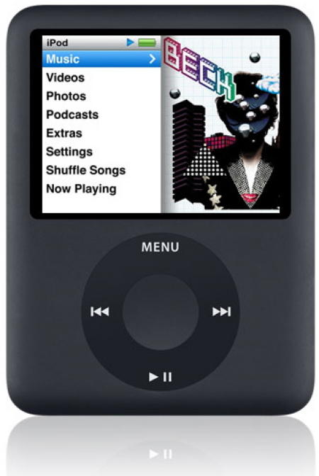 Apple iPod Nano MP3 player and video player