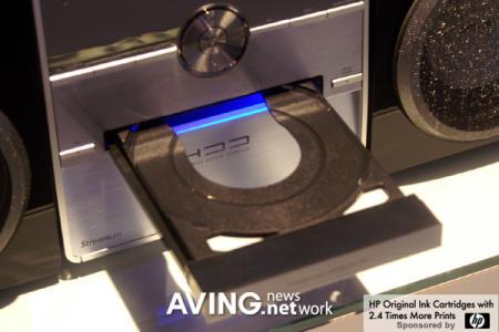 Philips WAC3500D wireless Streamium Hi-Fi showing CD player