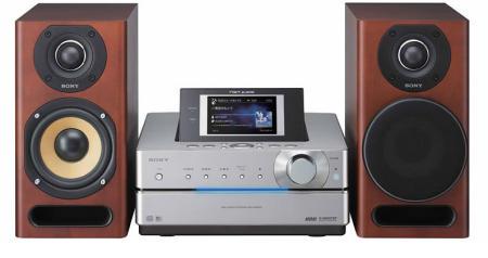 Sony Giga-Juke stereo in silver