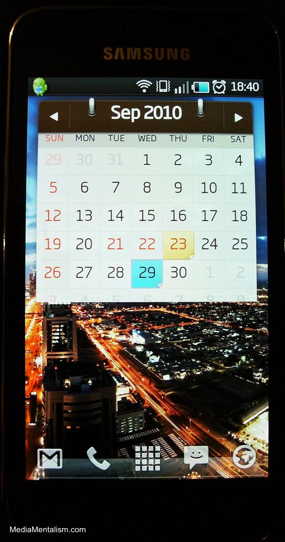 Android phone widgets